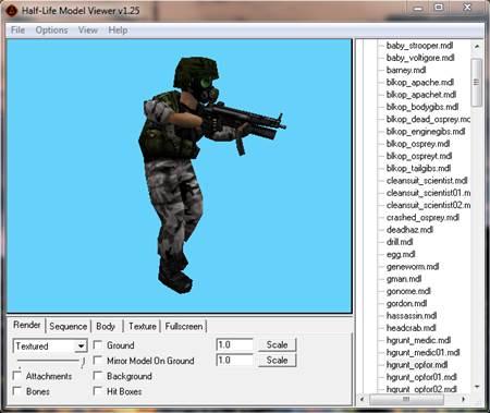 Half-Life Model Düzenleme Programı – Half-Life Model Viewer İndir