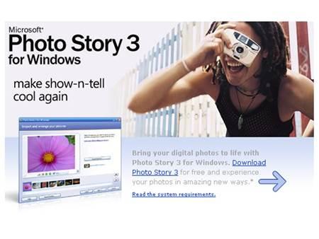 Fotoğraflardan Slayt Yapma Programı – Microsoft Photo Story İndir