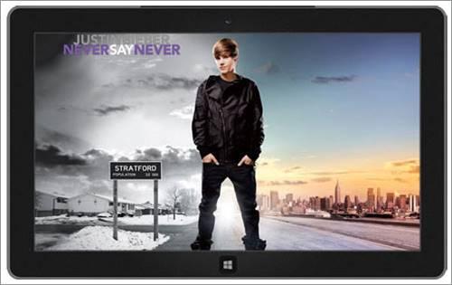 Justin Bieber Never Say Never teması