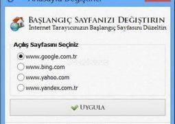 Tarayıcı Ana Sayfası Değiştirme Programı – Anasayfa Değiştirme (Homepage Remover) İndir