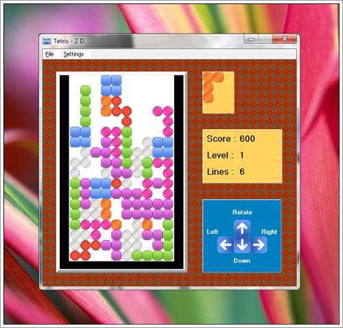SSuite Tetris 2D Game