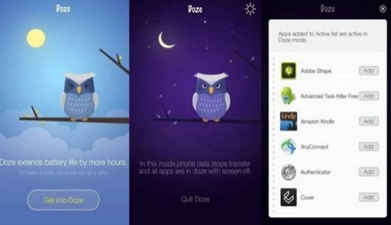 تطبيق Doze - For Better Battery Life