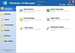 Windows 10 Hızlandırma Programı – Windows 10 Manager İndir