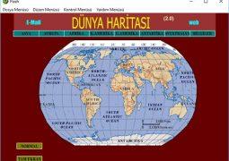 Dünya Haritası İndir – Dünya, Kıtalar ve Ülkeler Haritası İndir