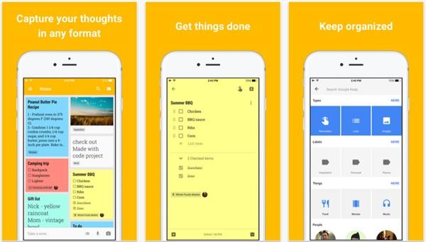 Google Keep iphone
