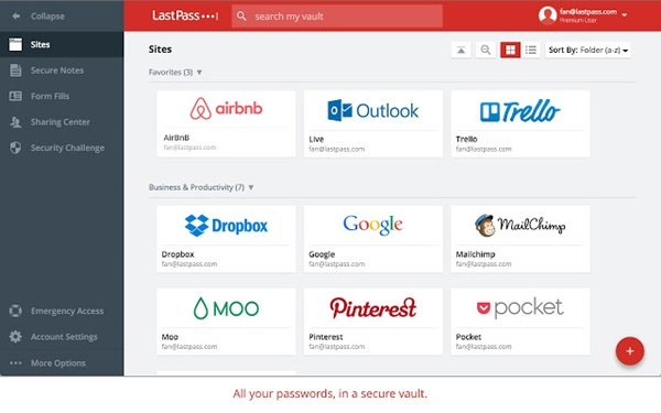 chrome LastPass Free Password Manager