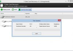 Hafıza Kartından Silinen Dosyaları Kurtarma Programı – 7-Data Card Recovery İndir