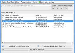 Sistem Geri Yükleme Noktası Oluşturma Programı – Restore Point Creator İndir Download