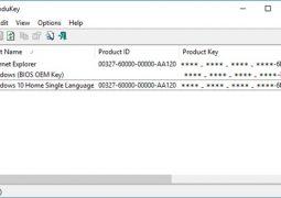 Office ve Windows Ürün Anahtarı Bulma Programı – ProduKey İndir